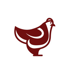 Chicken icon linear flat style vector