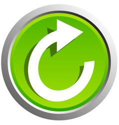 Circular arrow icon revolve rotate iteration vector