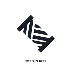 Cotton reel isolated icon simple element from sew vector