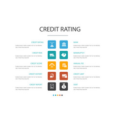 Credit rating infographic 10 option conceptcredit vector