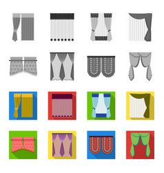 Curtains stick cornices and other web icon in vector