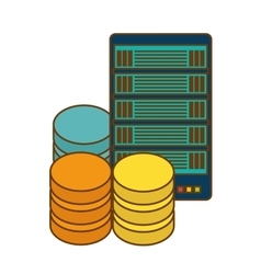 Data center storage icon image vector
