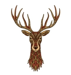 Deer decorative Christmas reindeer vector image