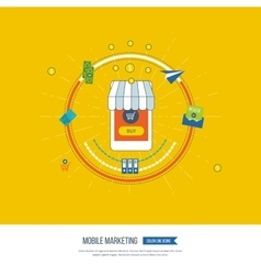 Digital and mobile marketing online shopping vector