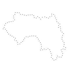 Dot stroke french guinea map vector
