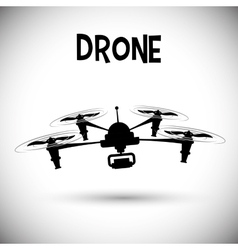 Drone icon design vector image