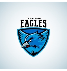 Eagle in a Shield Abstract Sport Emblem vector image