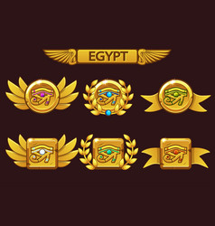 Egypt eye with colored precious gems receiving vector