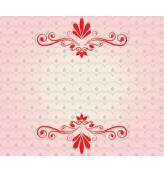 Elegant background with ornaments vector