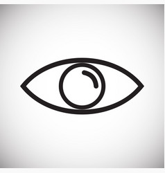 Eye icon on white background for graphic and web vector