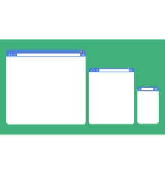 flat blank browser window on different devices vector image