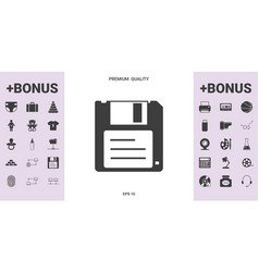 floppy disk icon - graphic elements for your vector image
