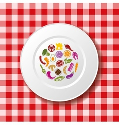 food on the plate vector image