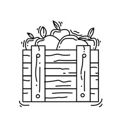 gardening harvest icon hand drawn icon set vector image