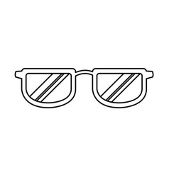 glasses accessory fashion frame object vector image