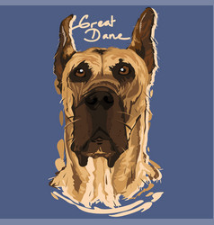 Great dane painting poster vector