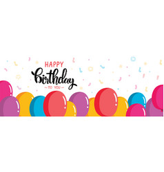 Hand drawn lettering design happy birthday vector