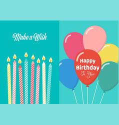 happy birthday card poster vector image