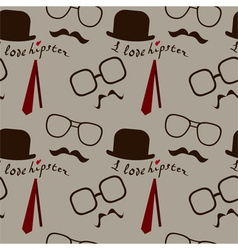hipster pattern vector image