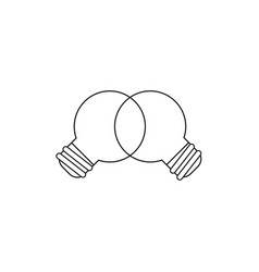 Icon concept unite ideas light bulbs teamwork vector