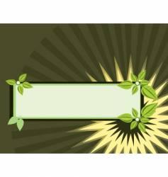 leaf banner vector image