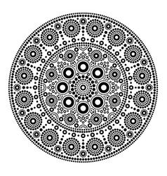 Mandala dot painting style aboriginal folk vector