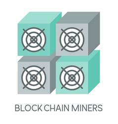 mining hardware mining machine vector image