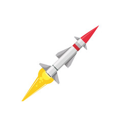 missile rocket weapon vector image