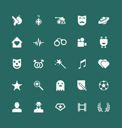 Movie genres icons set vector
