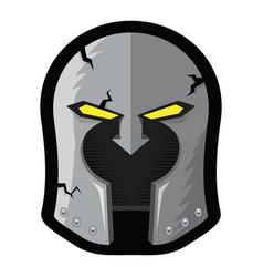 old cartoon helmet mascot greek military helmet vector image