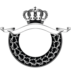 One Color Circle Royal Crown Composition vector image