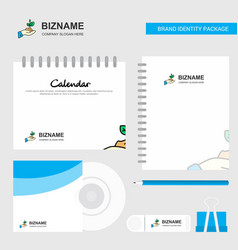 plant logo calendar template cd cover diary and vector image