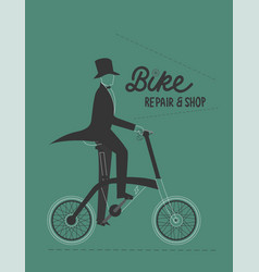 poster with rent and rental electric bike vector image
