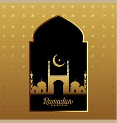 Premium ramadan kareem golden festival background vector