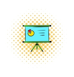 Presentation screen icon comics style vector