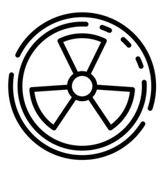Radiation symbol icon outline style vector