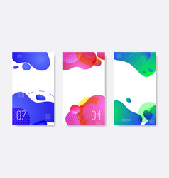 set abstract liquid banner template for web vector image