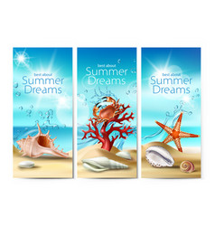 Set of banners of a summer vector