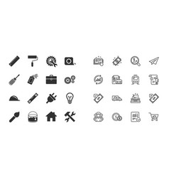 set of construction tools engineering and repair vector image