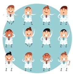 Set of doctors1 vector image