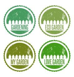 Set of garden labels vector