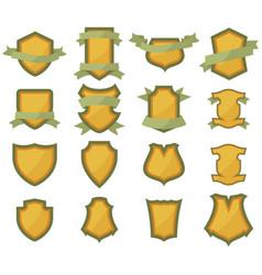 Set shields logo vector