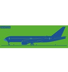 Silhouette of plane vector