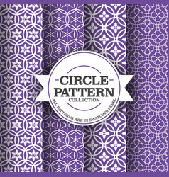 simple circle patterns background vector image