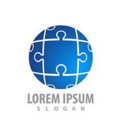 sphere puzzle logo concept design symbol graphic vector image