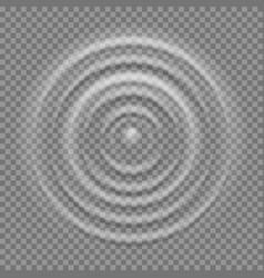 splash water top view realistic ripple vector image