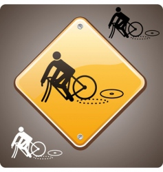 sport incident bike vector image