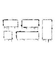 spray black grunge with frame vector image