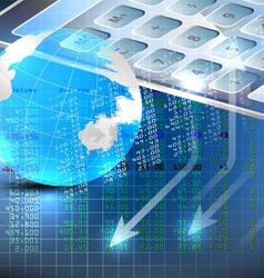 Stock exchange analysis vector image