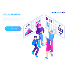 Teamwork visualization concept background vector